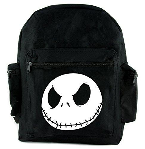 (Jack Skellington Face Evil Grin Backpack School Bag Nightmare Before)