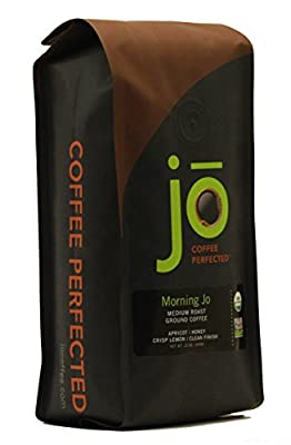 MORNING JO: 12 oz, Organic Breakfast Blend Ground Coffee, Medium Roast, Fair Trade Certified, USDA Certified Organic, NON-GMO, 100% Arabica Coffee, Gourmet Coffee from the Jo Coffee Collection