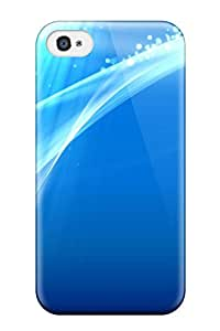 Logan E. Speck's Shop Perfect Fit Blue Background Abstract Case For Iphone - 4/4s