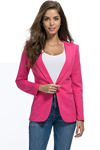My Wonderful World Fall Winter Slim Office Suit for Women XXX-Large Rose - High My On Street Not