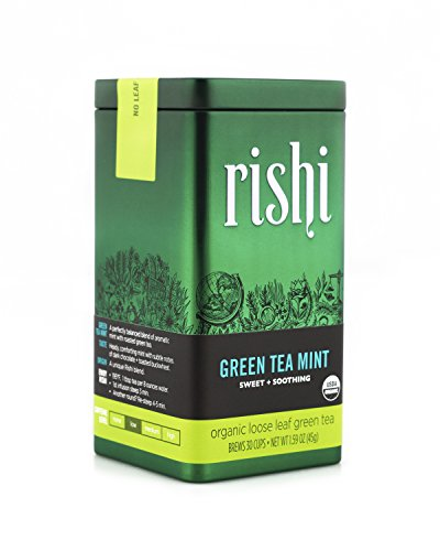 (Rishi Tea Organic Green Tea Mint Loose Leaf Tea, 1.59 Ounces Tin)