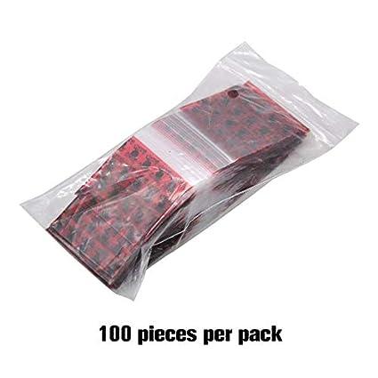 100 UNIDS Bolsas de Plástico Pequeñas Joyas Transparentes ...