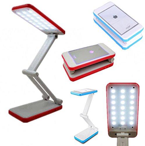 takestop® LAMPADA LED 6002 SPECCHIO SNODABILE SCRIVANIA DA TAVOLO LETTURA LIGHT LUCE BIANCA FREDDA RICARICABILE USB colore casuale MOON 1002276