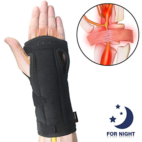 Wrist Brace Carpal Tunnel for Night, Comfortable and Adjustable Wrist Support with Soft Cushion for Sleep, Hand Brace with Splint for Wrist Pain, Fit for Both Left Hand and Right Hand - Single (The Best Carpal Tunnel Brace)