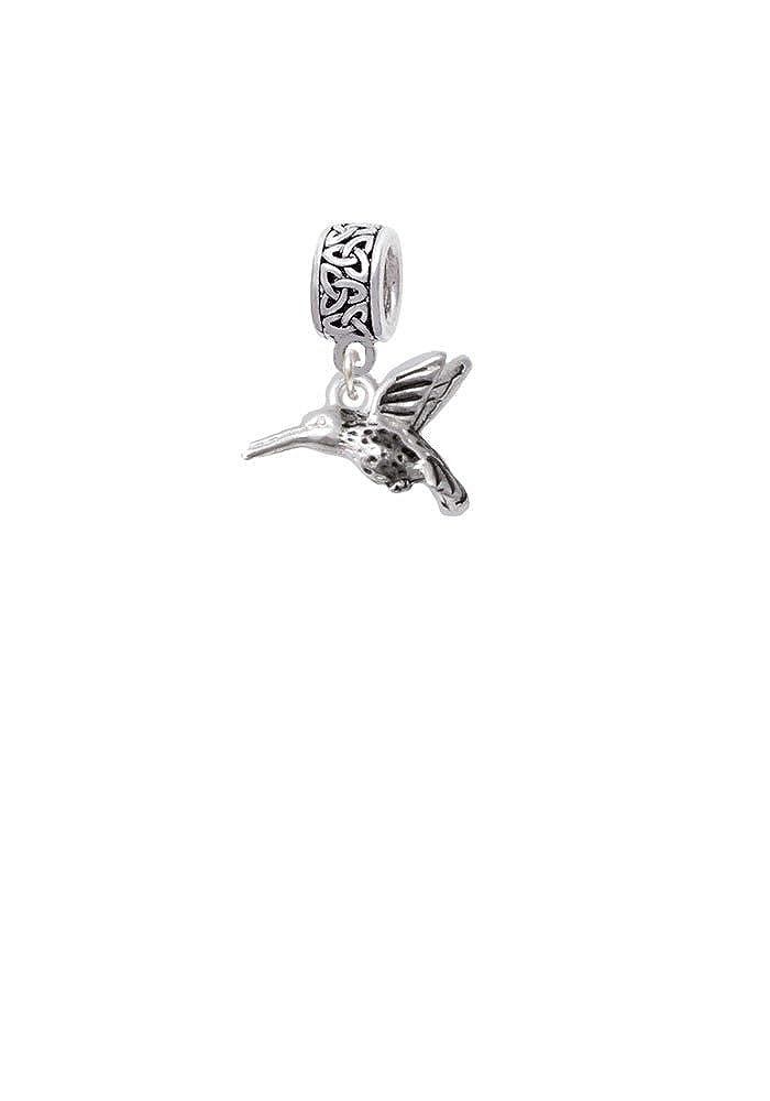 Small 3-D Hummingbird Celtic Knot Charm Bead Delight & Co. BH-C4903-BT1222