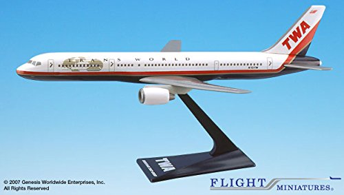 Flight Miniatures TWA Trans World Airlines 1995 Boeing 757-200 1:200 Scale Display Model with Stand