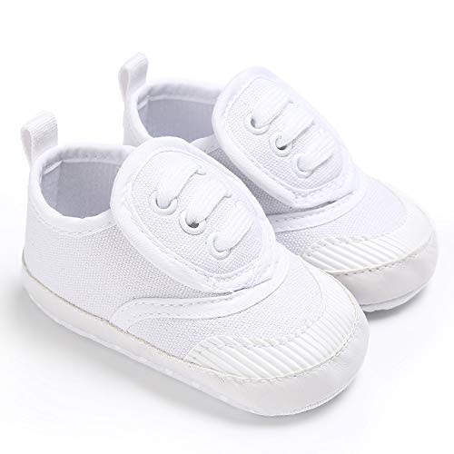 Meckior Save Beautiful Toddler Baby Girls Boys Shoes Infant First Walkers Sneakers (6-12 Months, A-White)