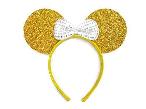 MeeTHan Mickey Mouse Minnie Mouse Ears Gold Headbands