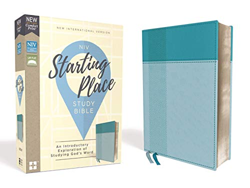 Niv, Starting Place Study Bible, Leathersoft, Blue, Comfort Print: An Introductory Exploration of Studying God's Word