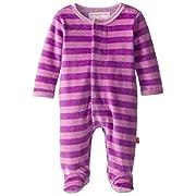 Magnificent Baby Baby-Girls Velour Footie, Pink/Lavender, 6 Months