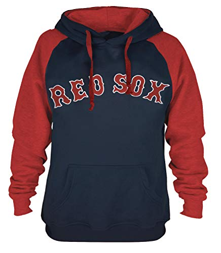 Mens Athletic Baseball Red Sox Pullover Hoodie (L) ()