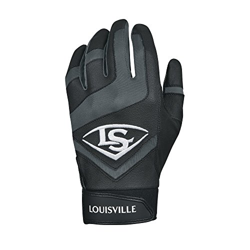 Louisville Slugger Genuine Adult Batting Gloves - Medium, Black