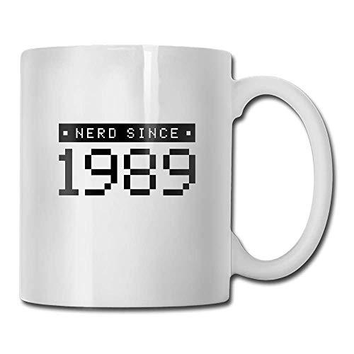 HOOAL Coffee Mugs Nerd Since 1989 C Tea Cup Novelty Gift for Friends (Supplement 1989)
