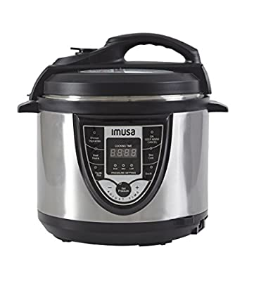 IMUSA USA GAU-80106 5Qt Stainless Steel BILINGUAL Programmable Digital Pressure Cooker by IMUSA USA