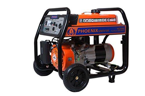 Phoenix Generators PG3500 Gasoline Generator 3500 Watt Peak Power Phoenix Power Equipment