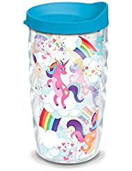 Tervis Unicorn With Rainbow 10oz Wavy Tumbler With Turquoise Lid Clear