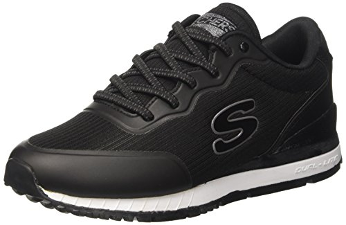 Skechers Women's Sunlite Sneaker,Black,US 8 M