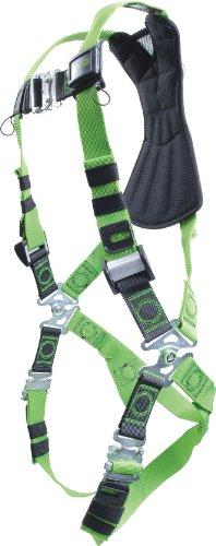 Miller RDF-QCXXLXXXLGN Revolution Harness with DuraFlex Webbing and Quick-Connect Leg Buckles 2X3X Green