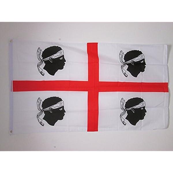 AZ FLAG Bandera de la CERDEÑA 150x90cm - Bandera DE Sardegna - Italia 90 x 150 cm: Amazon.es: Hogar