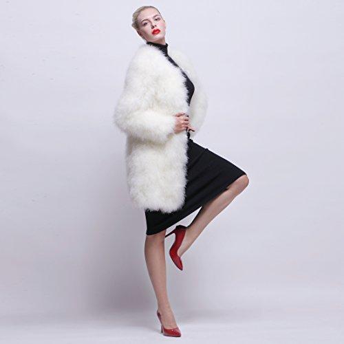 URSFUR - Abrigo - para mujer blanco