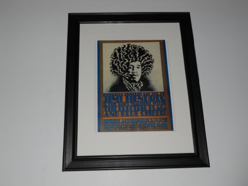 Jimi Hendrix 1968 Tour Poster Framed Print Electric Flag / Blue Cheer