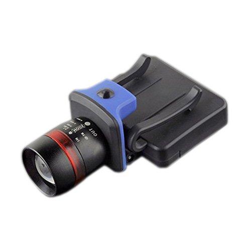 Faro - TOOGOO(R)XPE LED 120 lumenes 3 modos impermeable zoomable con clip Luz casquillo gorro Faros negro SPAGMT43533