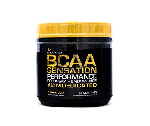 Dedicated Nutrition BCAA Sensation: Powerful Intra-Workout, Muscle Building Catalyst with High Leucine Content for Superior Bulk Enhancement, 30 Servings (Bubble Gum)