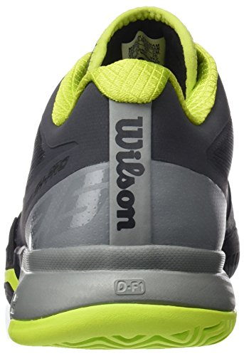 Wilson Herren Rush Pro 2.0 Clay Court Tennisschuhe Grau (Ebony / Monument / Lime Punch)
