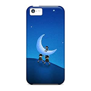 High-end Cases Covers Protector For Iphone 5c(3d Moon)
