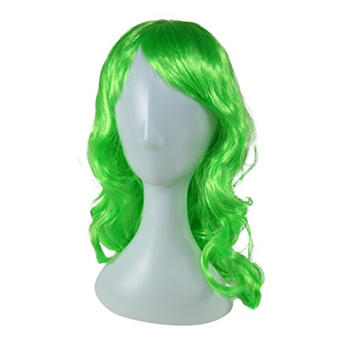 Long Color Wig with Bangs for Dress Up,