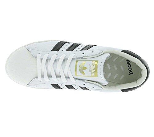 055e78ae854 ... Adidas Originalals Heren Superstar Boost Trainers Wit Zwart Us5.5 Wit