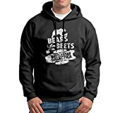 Fwbvnjdie909 Mens Bears. Beets. Battlestar Galactica No Pocket Sweater Black XL