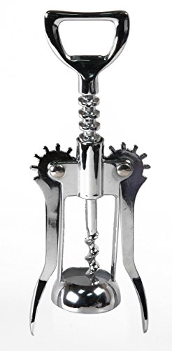 The Big Easy Wine Accessories Wing Cork Screw, Chrome, 1.25 x 2.25 x 5.875