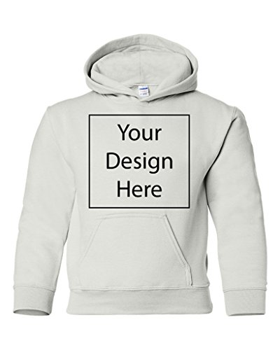Add Your Own Text and Design Custom Personalized Youth Sweatshirt Hoodie (Large, -