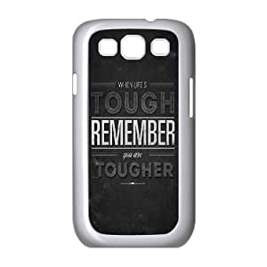 Samsung Galaxy S3 9300 Cell Phone Case White When Life Is Tough C7G5HD