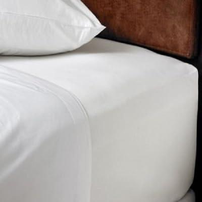 """Noah""""s Linen - Sábana bajera para cama doble extra grande, 100 ..."""