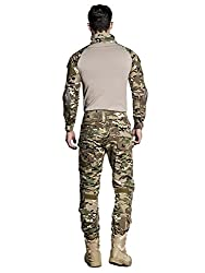 SINAIRSOFT US Army Uniform Shirt Pants with Knee Pads Tactical Combat Airsoft Hunting Apparel Camo BDU
