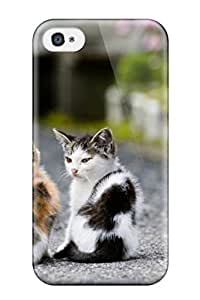 Durable Protector Case Cover With Sister Cats Hot Design For Iphone 4/4s