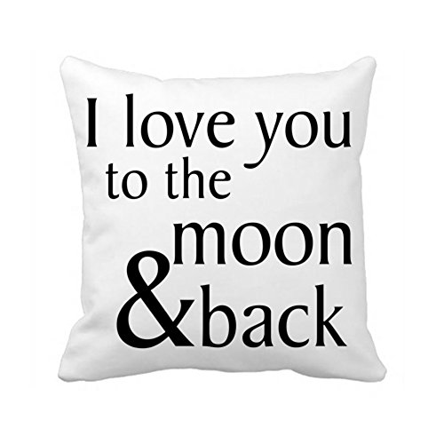 Back Cushion Canvas (Generic Personalized Pillow Case-i Love You to the Moon and Back Cushion Cover-gift for)