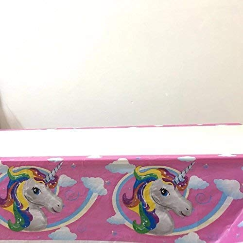 CharmTM Emoji Unicorn Set of 2 Party Tablecloths Plastic 71'' X 42.5'' Emoji Party Decorations by CharmTM