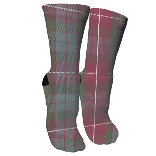 Fraser Red Weathered Tartan Crazy Socks Soft Breathable Casual Socks For Sports Athletic Running