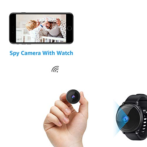 Mini Spy Camera with Watch WiFi Hidden Camera AOBO Wireless HD 1080P Indoor Home Small Spy Cam Security Cameras/Nanny Cam with Motion Detection/Night Vision for iPhone/Android Phone/iPad/PC