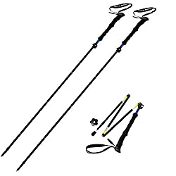 Trekking Poles Folding-collapsible Hiking Poles Walking Sticks By Sterling Endurance (Buy 1 Pole Or 2 Poles)