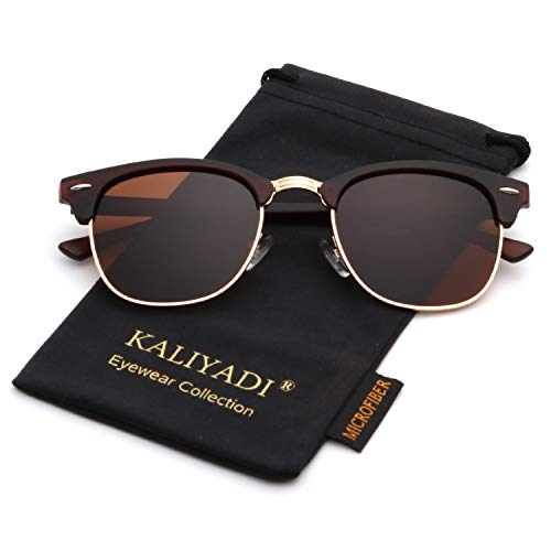 Polarized Sunglasses for Men and Women | Semi-Rimless Frame | Driving Sun glasses | 100% UV ()