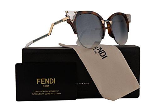 Fendi FF0041/N/S Sunglasses Iridia Havana Gold w/Blue Gradient Lens 52mm VIOG5 FF0041S FF 0041S FF 0041/S