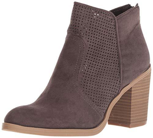DV by Dolce Vita Women's Jiffy Ankle Boot, Granite Stella Suede, 9 M US