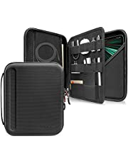 tomtoc Portfolio Case for iPad Pro 12.9-inch 2021/2020/2018, Protective Sleeve with Accessories Pocket, Carrying Storage Bag for iPad Pencil/Adapter/Hubs/Cables/Magic Keyboard, Fits Surface Pro 12.3