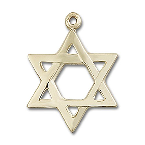 14kt Gold Star of David Medal Pendant, 7/8 ()