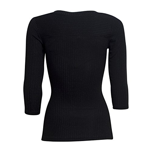 3/4 Arm Shirt Cindie - von Kaffe - Farbe Black with black lur