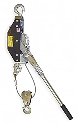 Ratchet Puller, 1250/2500 lb. Lifting Capacity, 20/10 ft. Cable Length